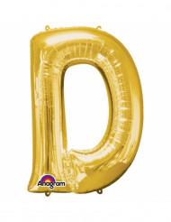 Palloncini in alluminio lettera D dorata