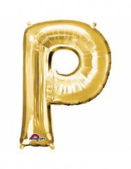 Palloncini in alluminio lettera P dorata