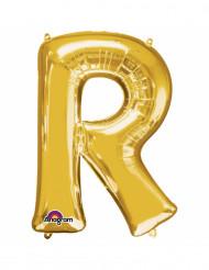 Palloncino dorato lettera R
