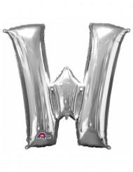 Palloncini in alluminio lettera W argentato