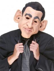 Maschera umoristica in lattice Nicolas Sarkozy