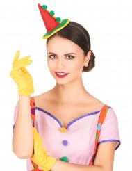Cerchietto con mini cappello da clown da adulto