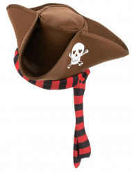 Cappello da pirata marrone da adulto