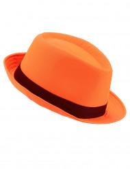 Cappello Borsalino per adulto arancione con banda nera