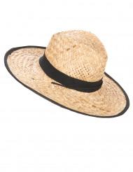 Cappello cowboy con fascia e bordi neri adulto