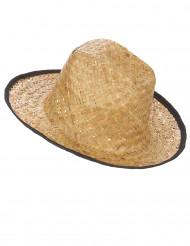Cappello da cowboy con bordo nero per adulti