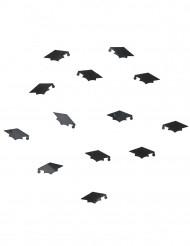 Coriandoli neri a forma di tocco per laurea