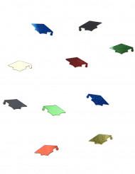 Coriandoli multicolor a forma di tocco per laurea