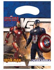 6 bustine regalo Captain America Civil War™