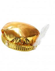 Copricapo dorato da sultano per adulto