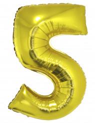 Palloncino alluminio gigante 5 dorato