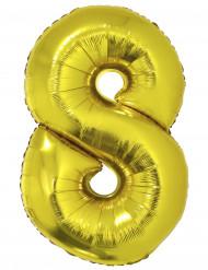 Palloncino alluminio gigante 8 dorato