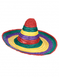Sombrero messicano multicolor per adulto