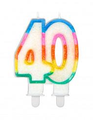 candelina di compleanno 40 anni
