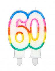 Candelina 60 anni colorata