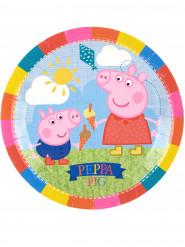 8 piatti di cartone Peppa Pig™