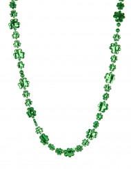 Collana verde con trifogli brillanti San patrizio adulto