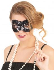 Maschera con paillettes nere