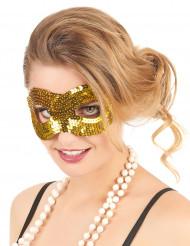 Maschera con paillettes dorate