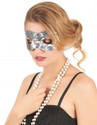 Maschera con paillettes argentate