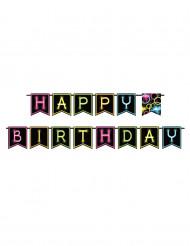 Ghirlanda Happy Birthday Fluo Party