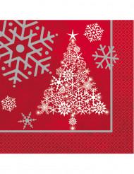16 tovaglioli di carta Albero di Natale stellato