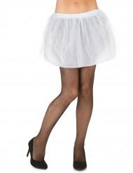 Tutù bianco con sottogonna opaco