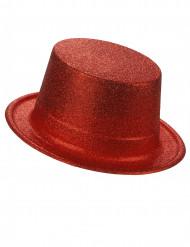 Cappello a cilindro brillantini rosso