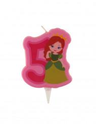 Candelina con principessa numero 5