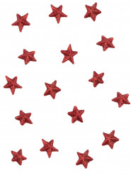 70 stelline rosse con brillantini