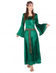 Costume verde in stile medievale da donna