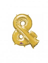 Palloncino di alluminio simbolo & dorato