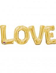 Palloncino in alluminio LOVE dorato