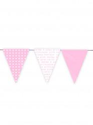 Ghirlanda con gagliardetti tonalità rosa