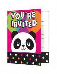 8 inviti di compleanno Panda Party