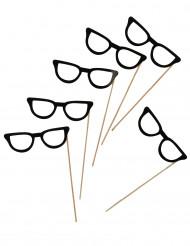 6 occhiali neri per photobooth