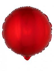 Palloncino di alluminio rotondo rosso