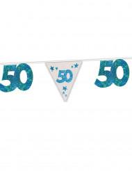 Ghirlanda blu per i 50 anni 6 metri