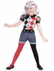 Costume da arlecchino diabolico per bambina