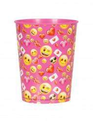 Bicchiere di plastica rosa Emoji™