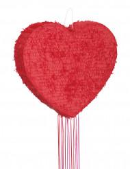 Pignatta a forma di cuore rossa