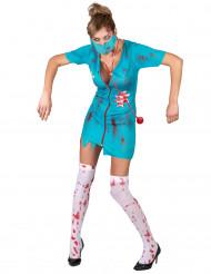Costume da infermiera zombie per adulta