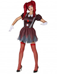 Costume da bambola spaventosa per donna