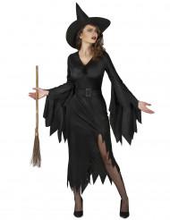 Costume nero strega sexy da donna