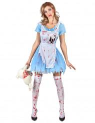 Costume insanguinato da Alice per adulta