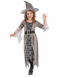 Costume streghetta grigio per bambina