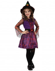Costume streghetta viola e rosso bambina