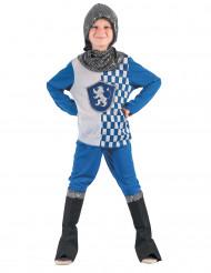 Costume da cavaliere medievale blu per bambino