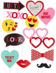 Kit photobooth 13 pezzi Love