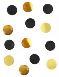 Coriandoli da tavola neri ed oro